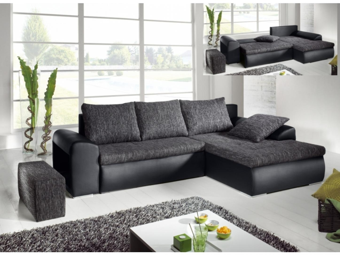 photos canap d 39 angle gris chin convertible. Black Bedroom Furniture Sets. Home Design Ideas