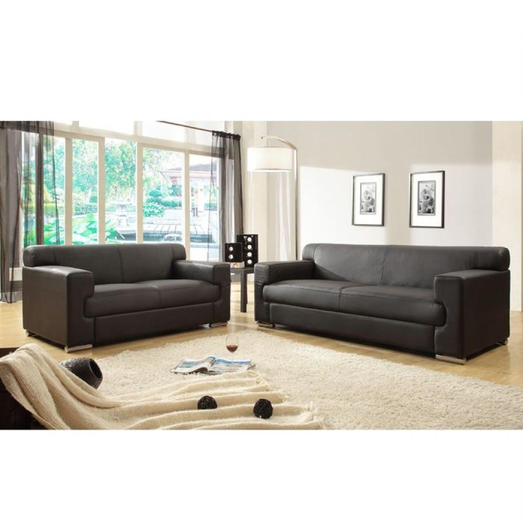 photos canap convertible cuir 3 places pas cher. Black Bedroom Furniture Sets. Home Design Ideas