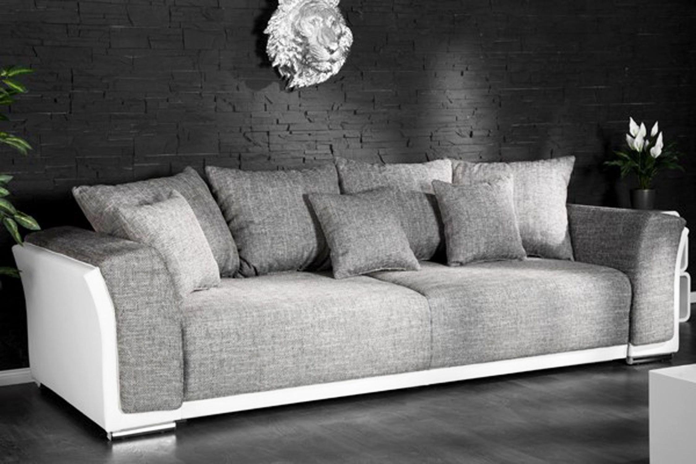 Canape 3 Places Convertible Tissu Pas Cher Maison Et Mobilier D