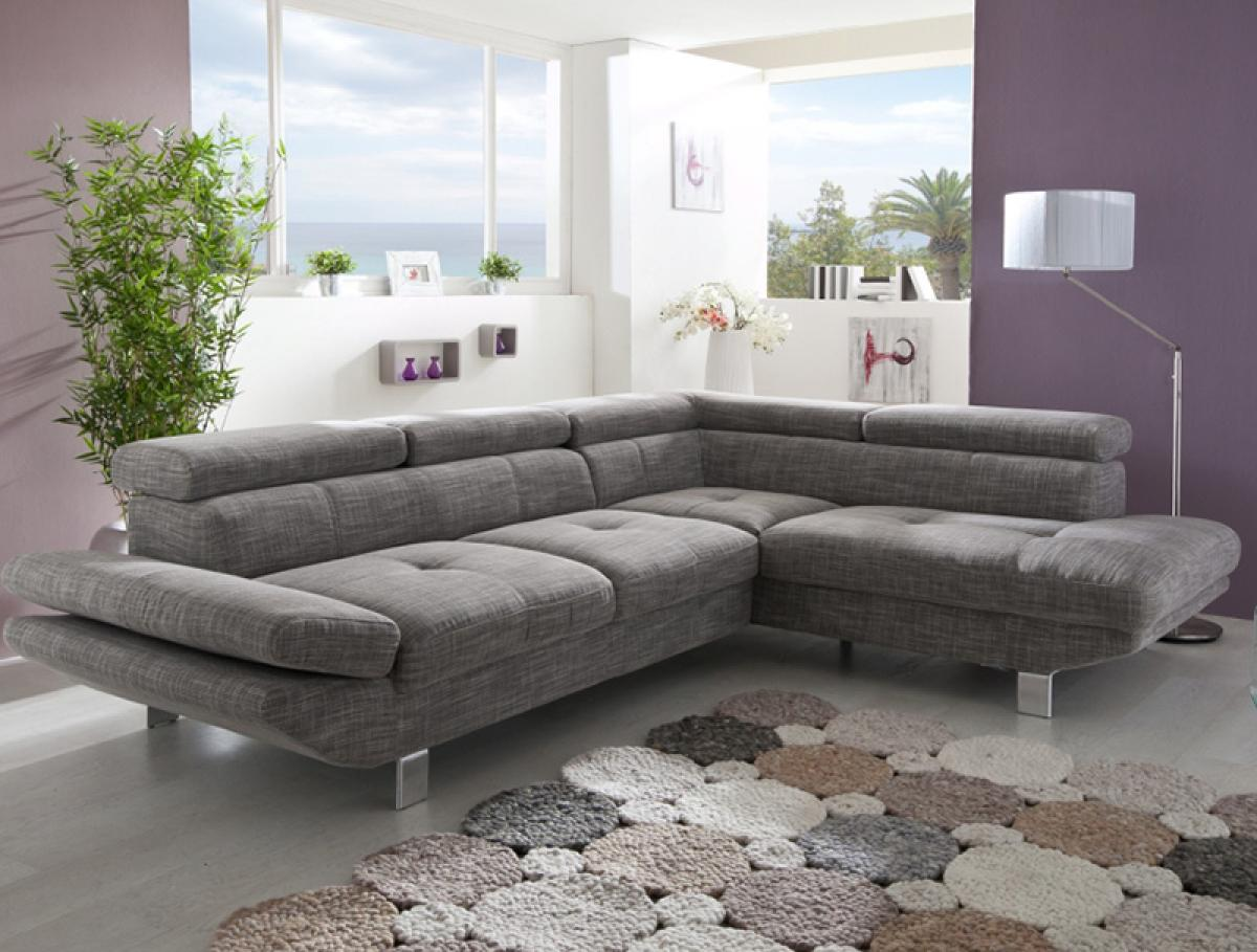 photos canap d 39 angle convertible gris. Black Bedroom Furniture Sets. Home Design Ideas