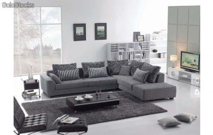 photos canap tissu gris. Black Bedroom Furniture Sets. Home Design Ideas