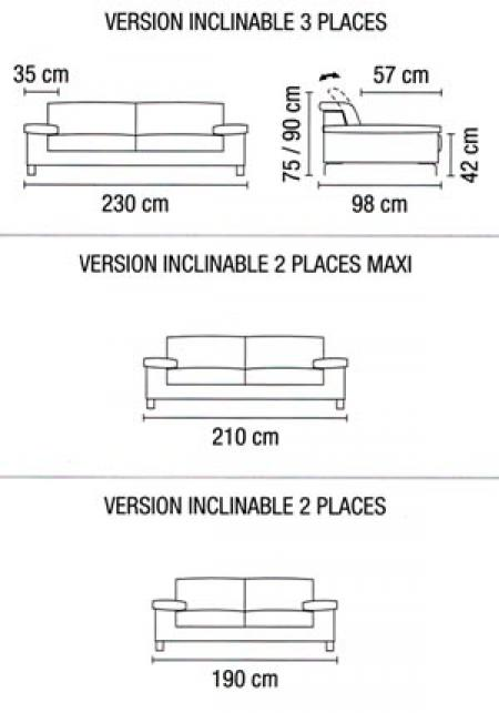 photos canap 3 places dimensions. Black Bedroom Furniture Sets. Home Design Ideas