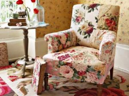 Photos canap anglais tissu fleuri - Salon anglais en tissu ...