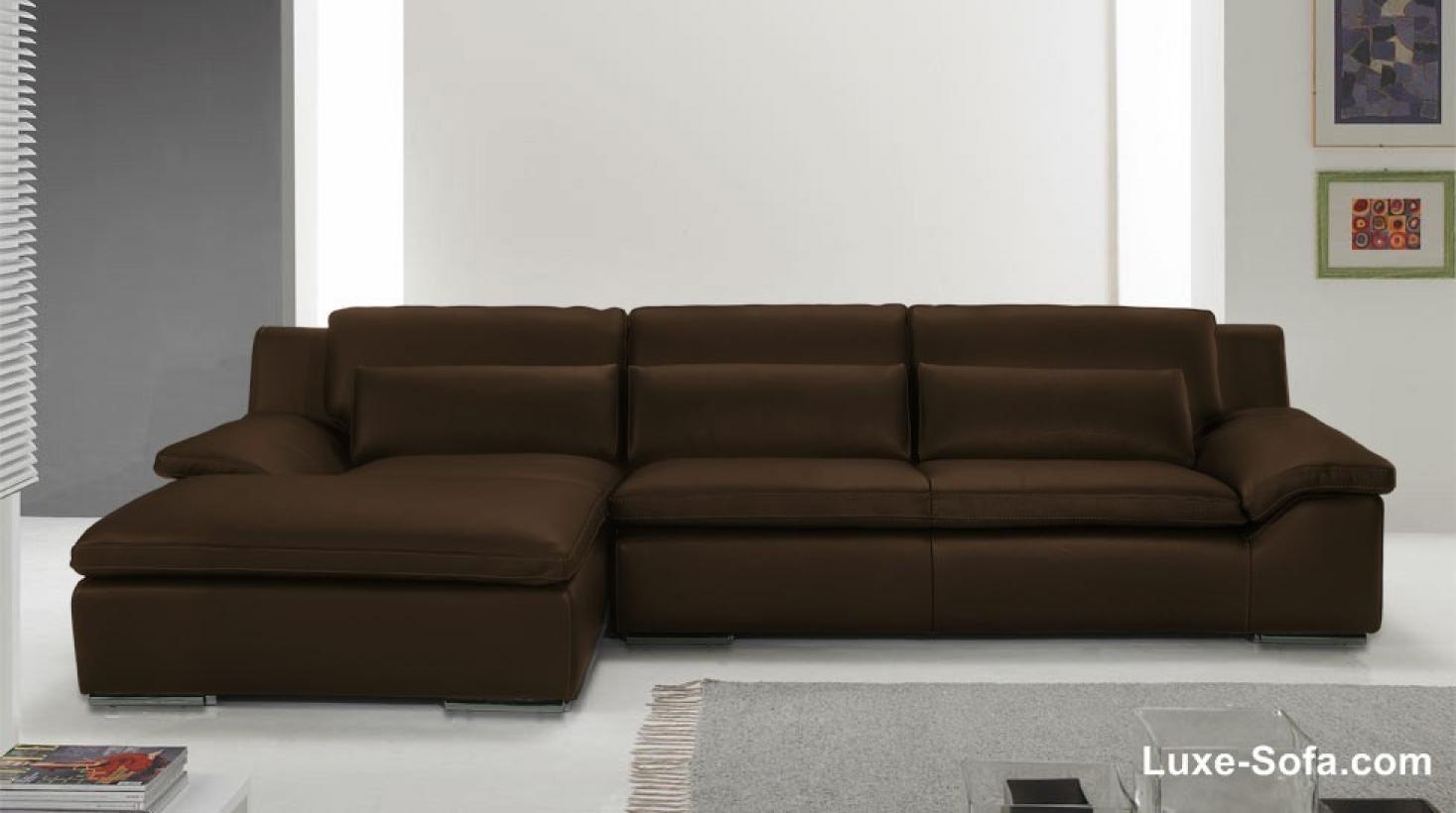 s canapé angle cuir marron