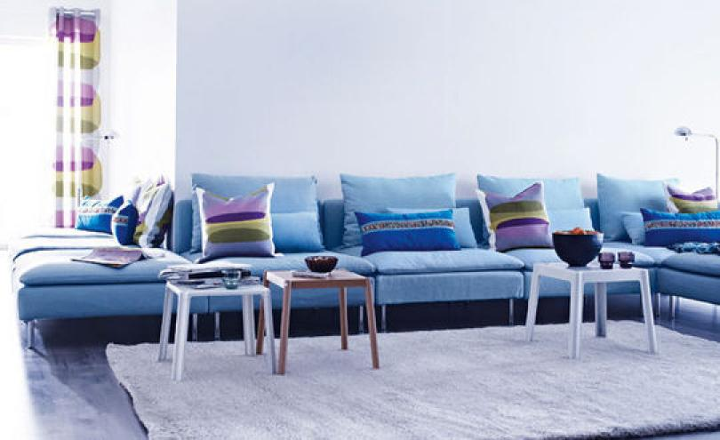 photos canap bleu ikea. Black Bedroom Furniture Sets. Home Design Ideas