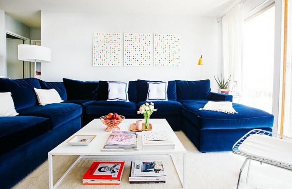 Fabuleux Canapé Bleu Roi @TR28 | Aieasyspain
