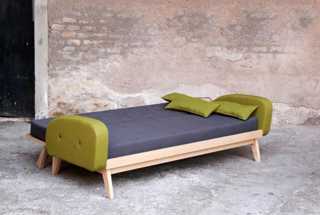 s canapé bois convertible