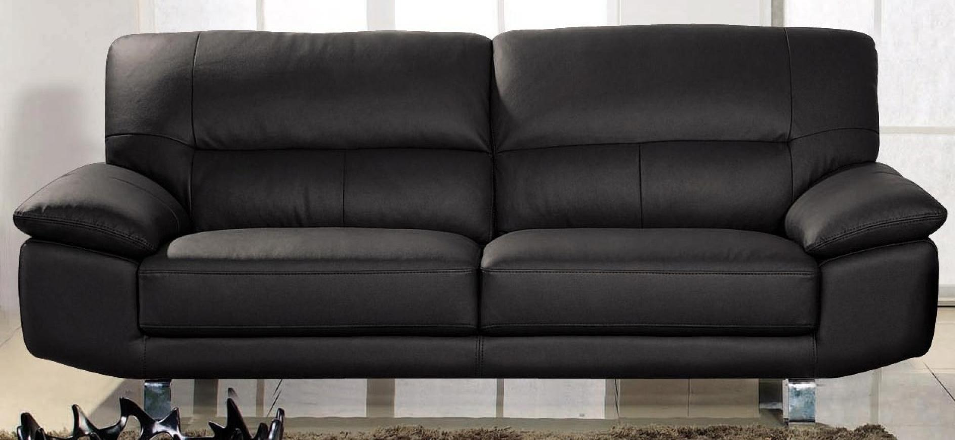 photos canap cuir noir. Black Bedroom Furniture Sets. Home Design Ideas