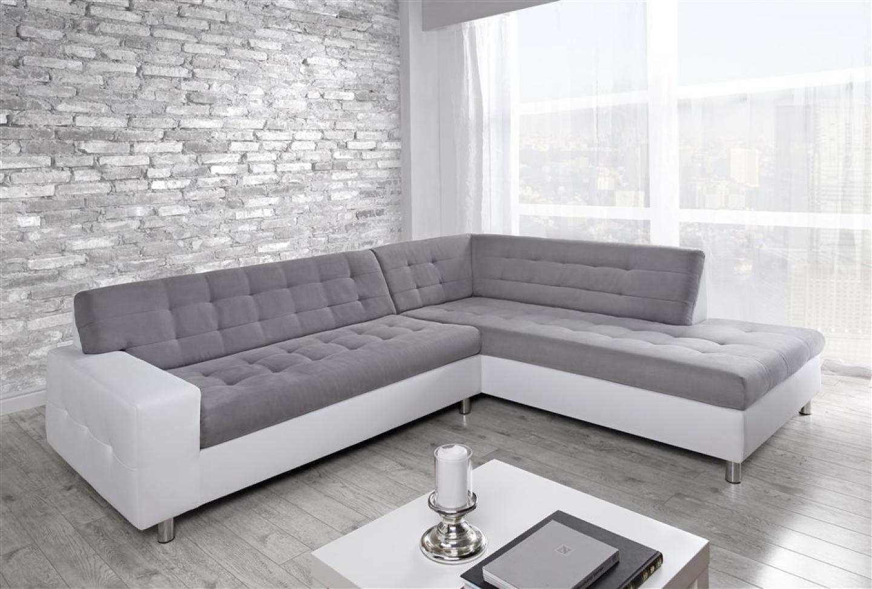 photos canap conforama blanc et gris. Black Bedroom Furniture Sets. Home Design Ideas